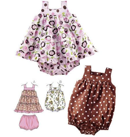 Sewing Pattern - Infant Pattern, Baby Pattern, Sundress Pattern ...