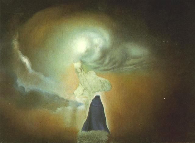 Figure In The Shape Of A Cloud 1960 By Salvador Dali Symbolism