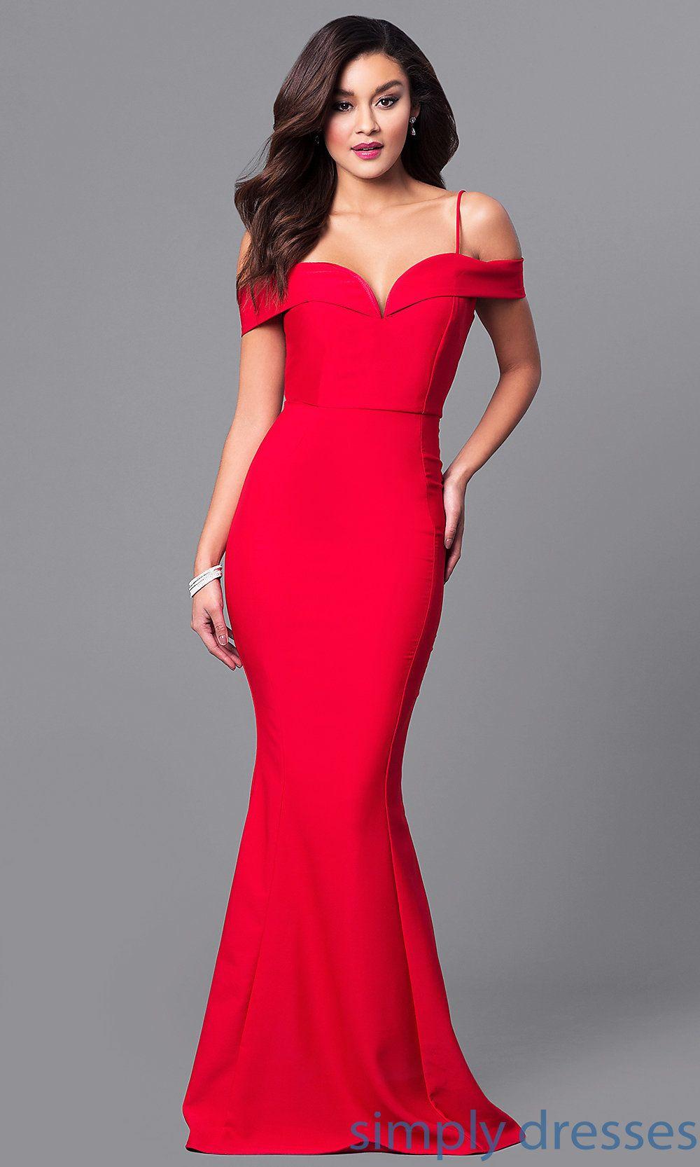Long offtheshoulder formal mermaid dress mermaid evening dresses