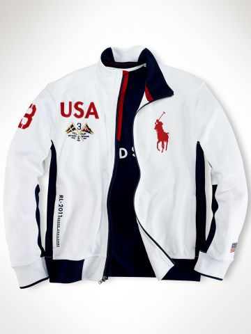 RL 2011 jacket country Flag Ocean Challenge Mesh Full Zip Flag Jacket USA  With White On