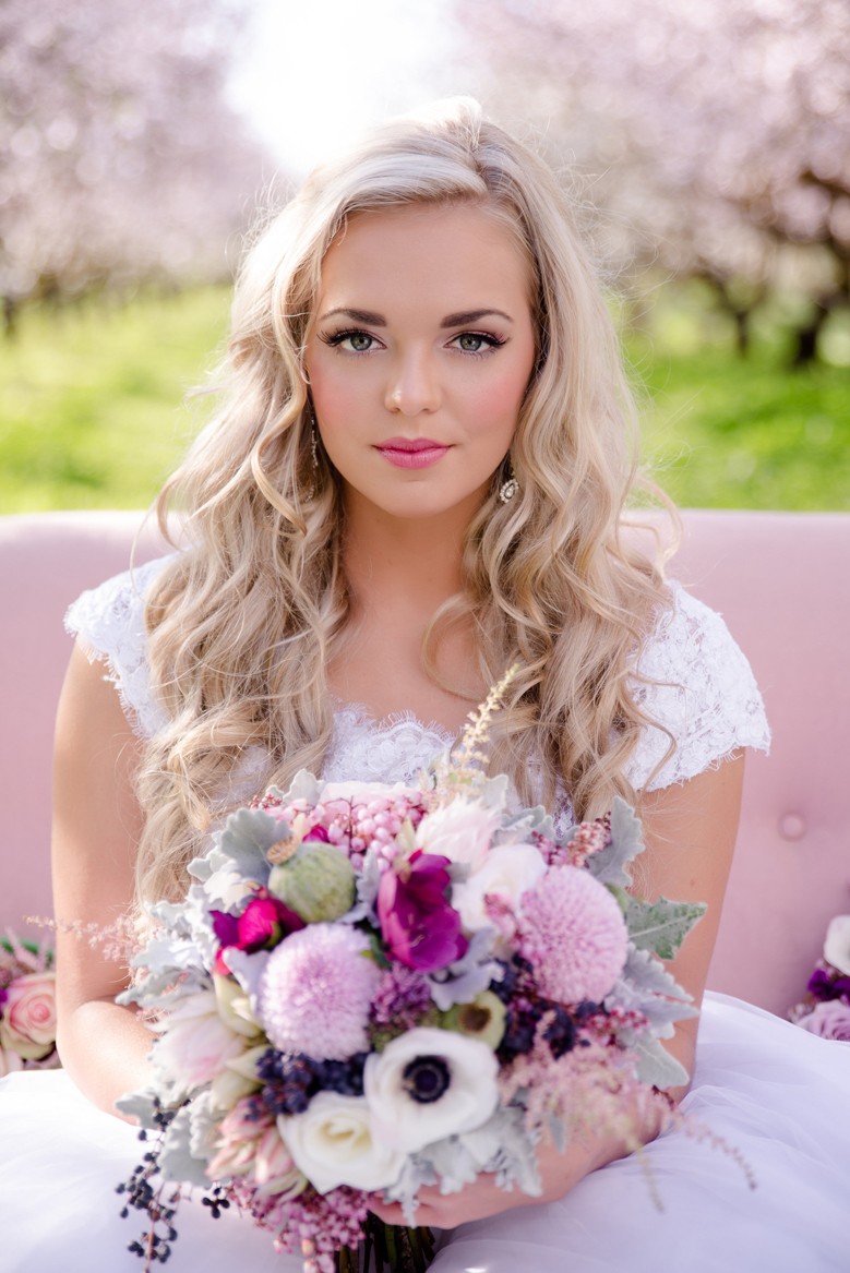 beautiful bridal hair & makeup #weddinginspiration #brideandgroom