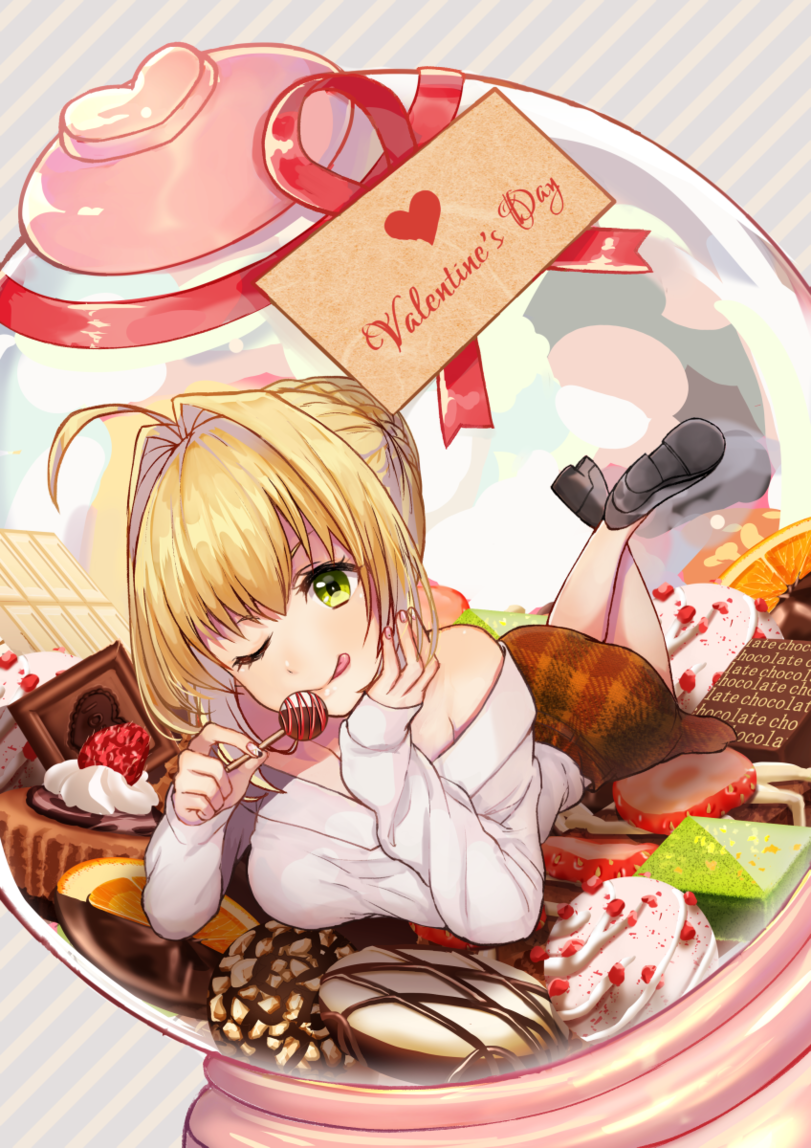 Saber Fate Series Valentine S Day Chocolates Special Click For More One Punch Anime Fate Anime