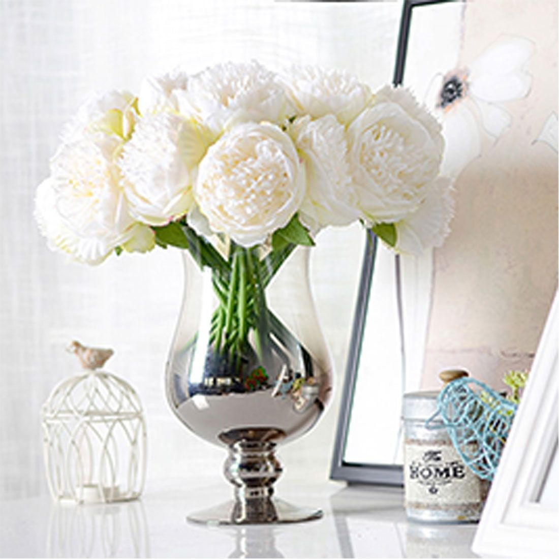 New cheap artificial fake peony silk flowers bridal bouquet flower new cheap artificial fake peony silk flowers bridal bouquet flower arrangement home wedding party festival table izmirmasajfo