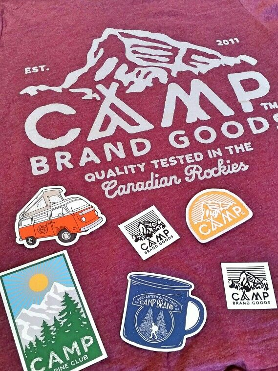 In love with my new Camp Brand Goods tee shirt and variety of stickers :) @campbrandgoods #campbrandgoods #behappy #getoutside #camp #hike