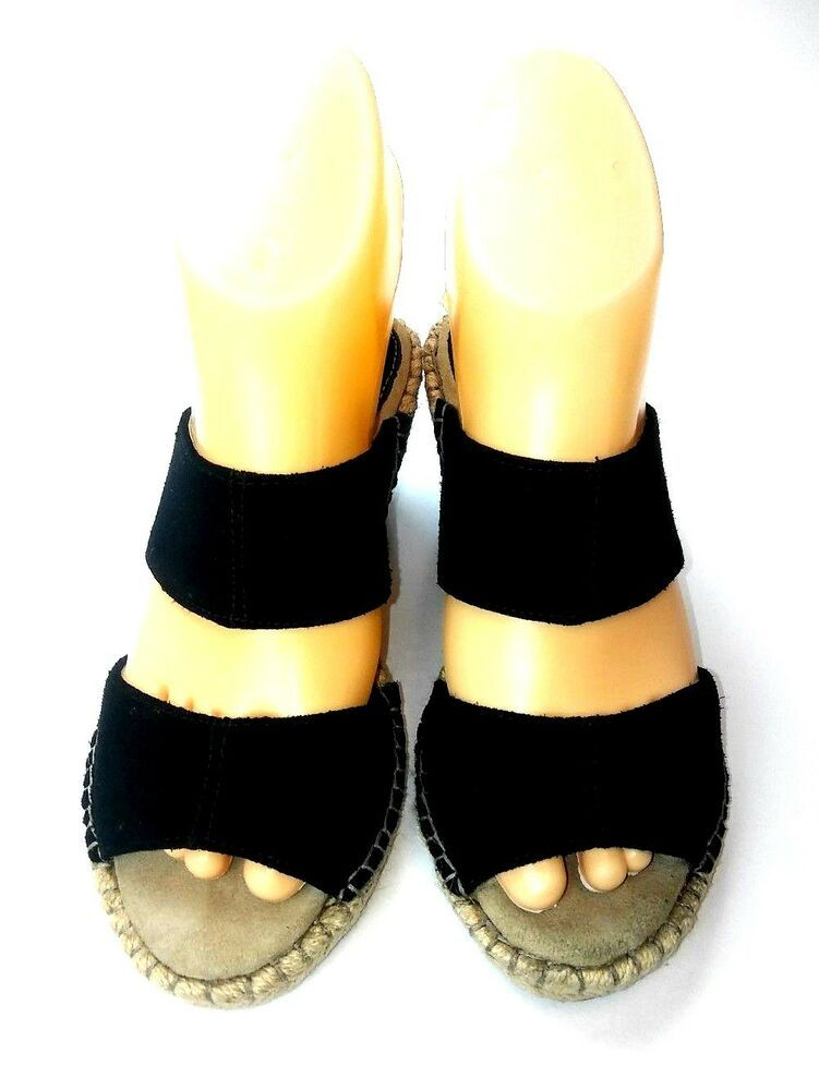 12ca6aa12 Noelani Womens Espadrille Wedge Sandals Size 6 Black Slip On Casual #Nolani  #Espadrilles #Casual