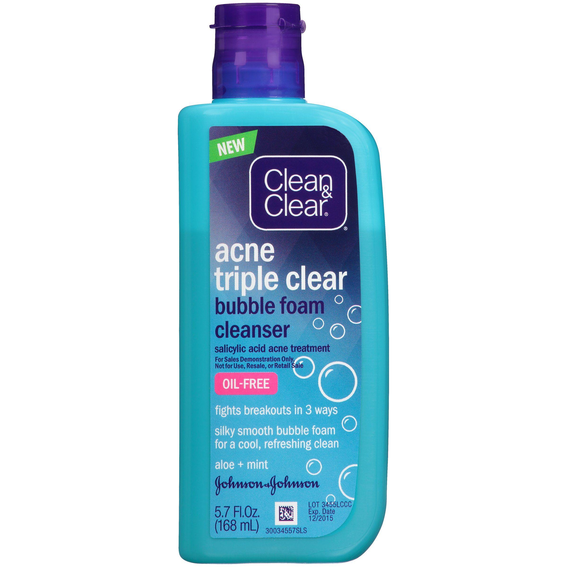 Triple fruit acid facial cleansers