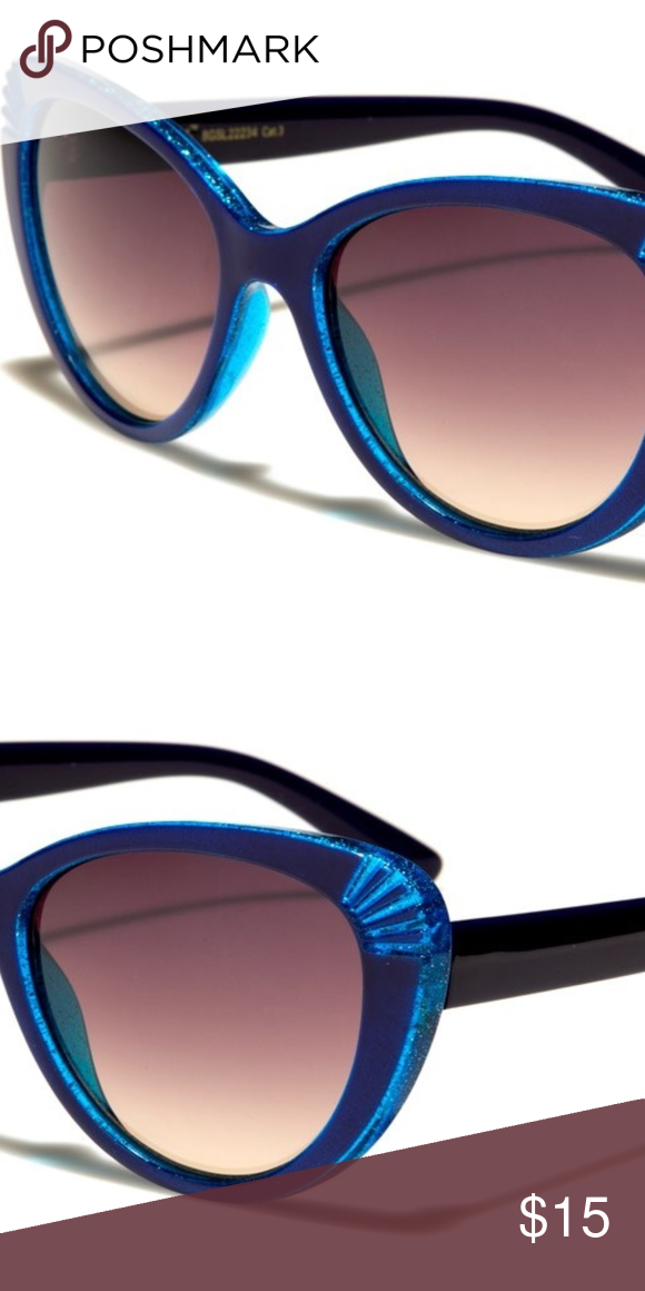 dc7ff564c55f Blue Giselle Cat Eye Sunglasses Your going to love these stunning Giselle  cat eye women's sunglasses