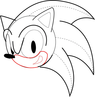 How To Draw Sonic The Hedgehog In Easy Drawing Tutorial How To Draw Step By Step Drawing Tutorials How To Draw Sonic Sonic Cake Sonic Birthday Parties
