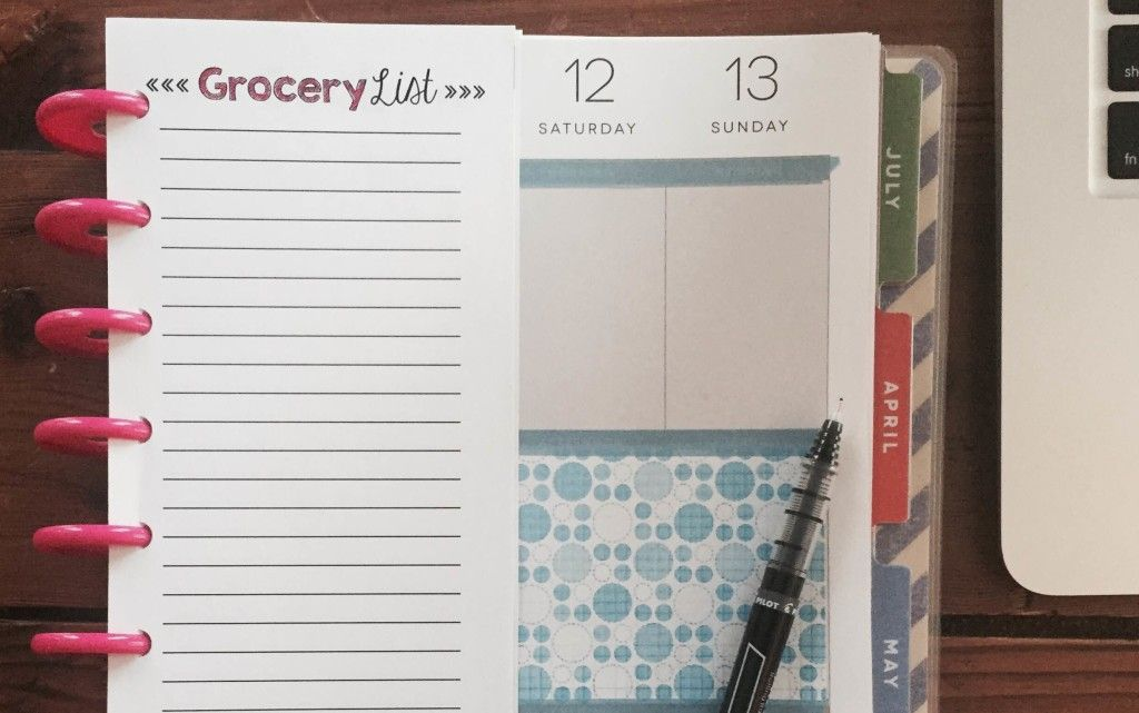 graphic about Free Happy Planner Inserts titled Free of charge Content Planner Grocery Checklist Printable Include All