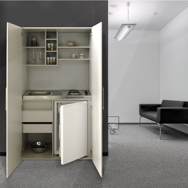 Mini Offices For Kitchen: Respekta Single Office Pantry Kitchen Mini Cupboard Silver