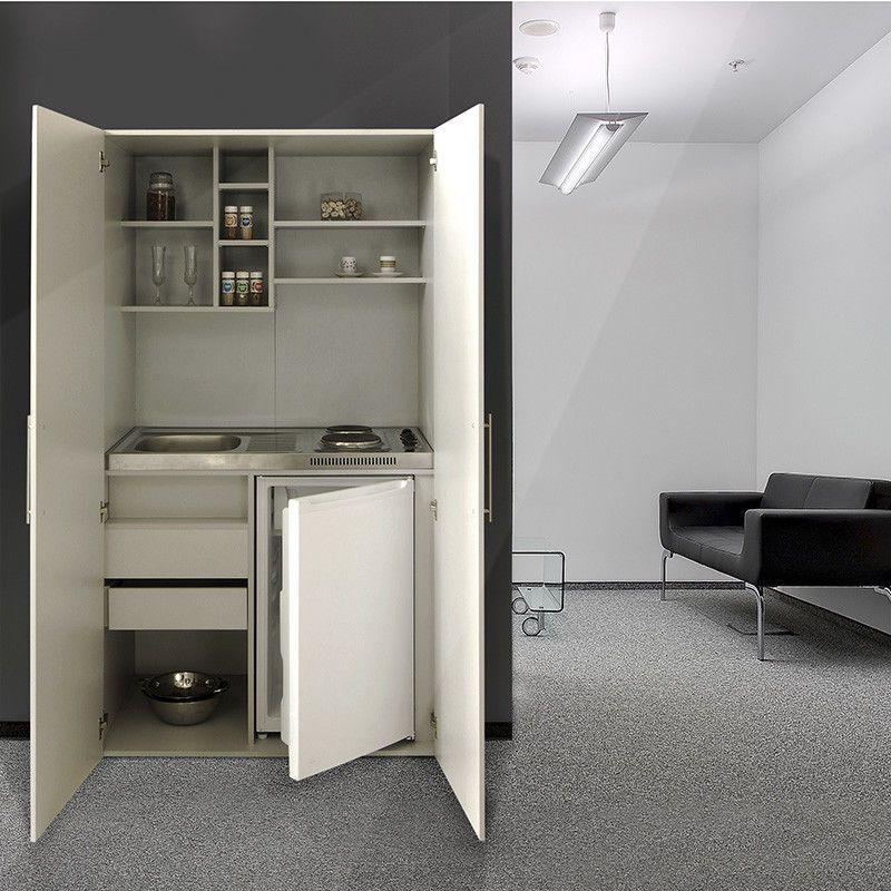 Respekta Single Office Pantry Kitchen Mini Cupboard Silver SKW NEW