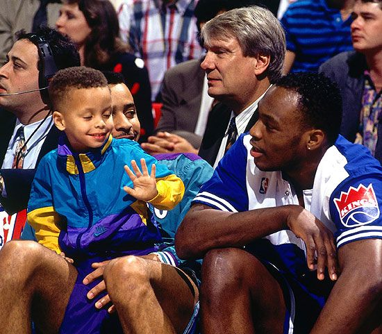 Stephen Curry and his father Dell Curry