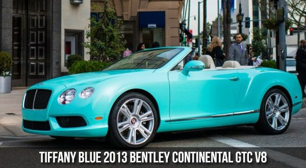 Tiffany Blue 2013 Bentley Continental GTC V8 Bentley