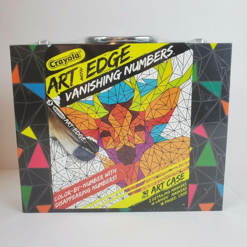 30 Piece Crayola Art With Edge Vanishing Numbers Coloring Color By Number Crayola Crayola Art Art Crayola
