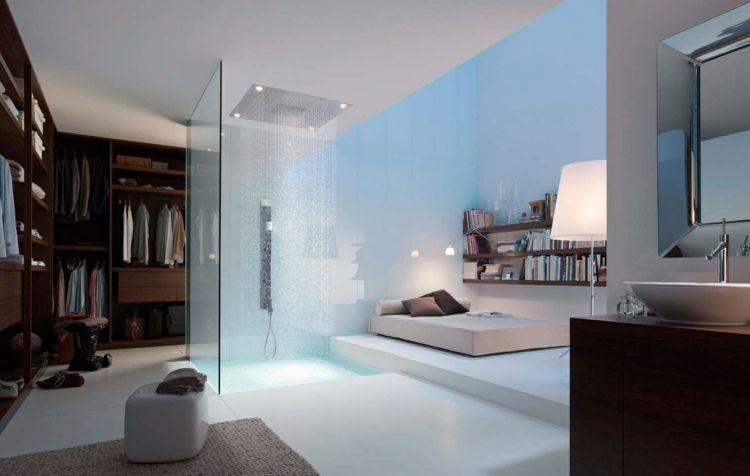 Paroi de douche ou douche ouverte quelles sont les tendances - salle de bain moderne douche italienne