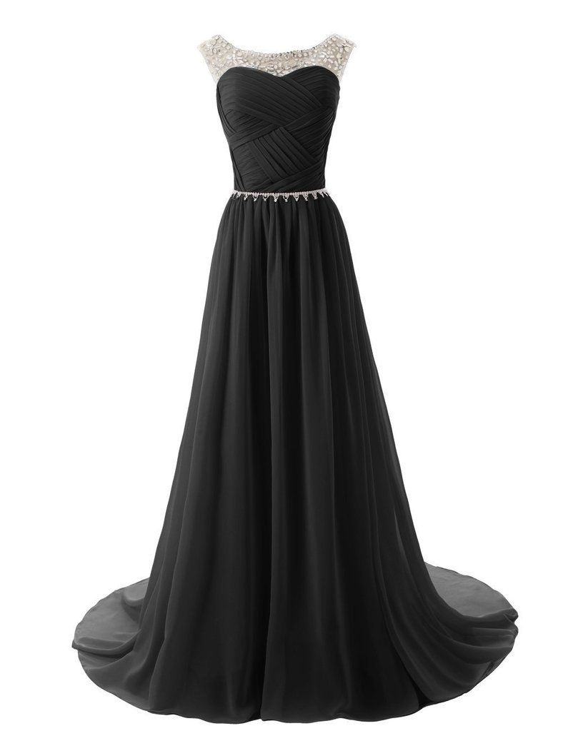 amazon: eudolah a-line scoop floor-length chiffon formal