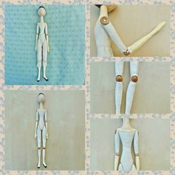 Wooden doll / Bead Jointed cloth doll / sewing pattern / digital pattern / instant download / historical doll / PERMISSION TO SELL #historicaldollclothes