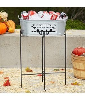 personalized halloween beverage tub halloween decorations by personal creations 2999 - Personalized Halloween Decorations