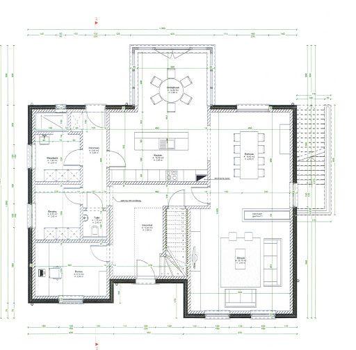 Voorontwerp ob pastorij woning bouwinfo tuin for Plattegrond woning