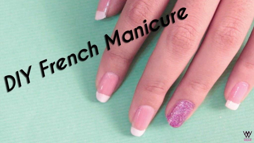 Diy Nail Art Scotch Tape Method French Manicure Hairnails