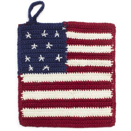 American Flag Crochet Potholder | Crochet stuff for the home ...