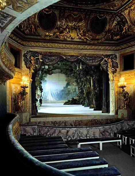 Beautiful Places...Marie Antoinette's Private Theater, Versailles, France.
