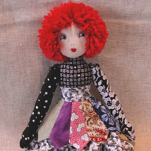 RAG DOLL BLACK AND WHITE WITH RED HAIR | Flickr - Photo Sharing!