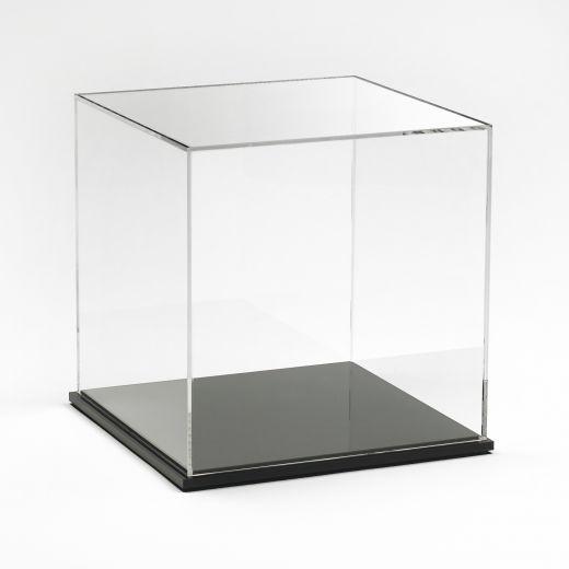 Acrylic Display Box 8 X 8 X 8 With Black Base Acrylic Display Box Acrylic Display Acrylic Display Case