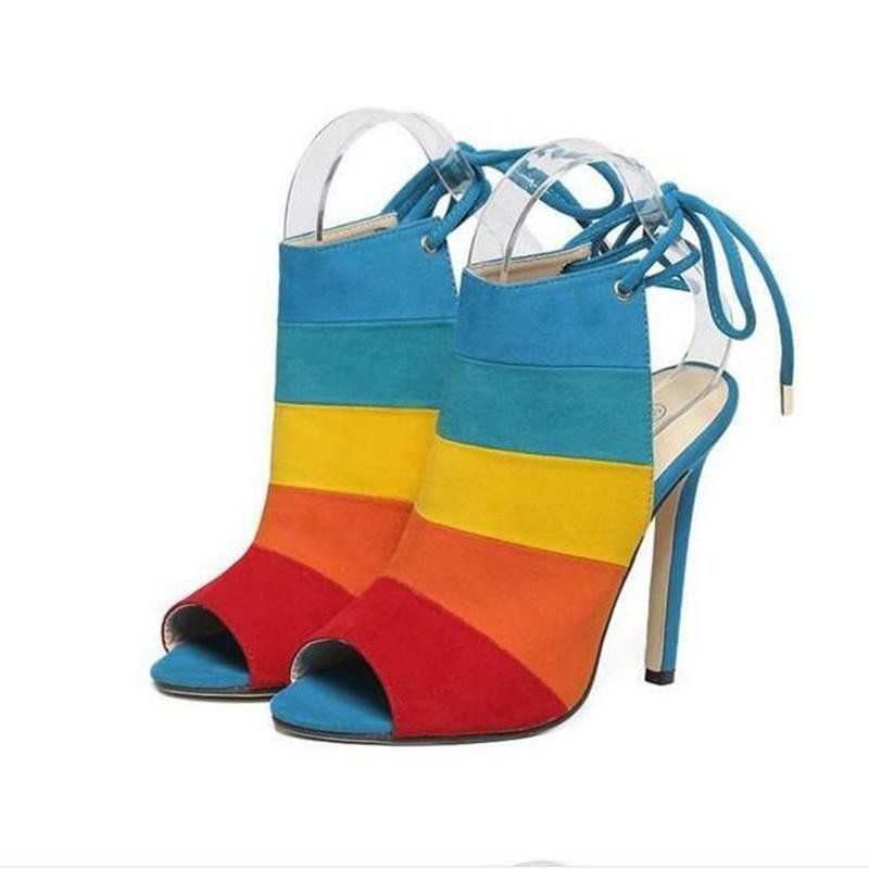 Mixed Color Pumps  Heels, High Heels, Pump Shoes-6824