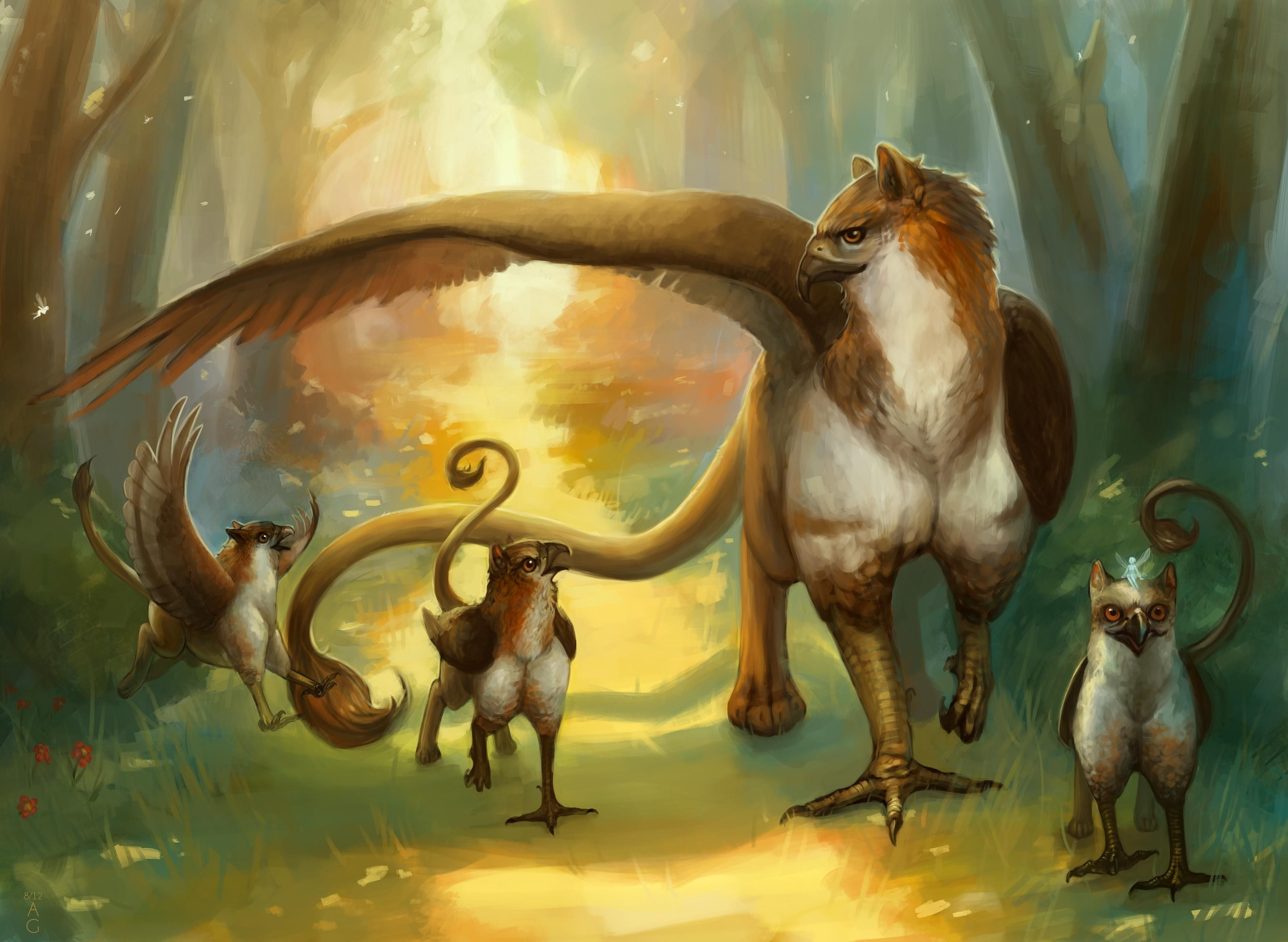 Fantasy griffin griffon creature wallpaper - A picture of a griffin the creature ...