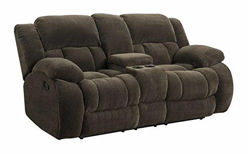 Best Coaster Home Furnishings Coaster 601925 Motion Loveseat Brown Weissman Motion Collection 400 x 300
