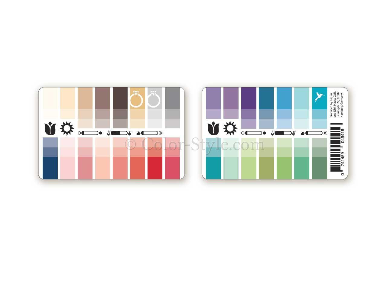 Karten-Farbpass Frühling-Sommer mit 30 Farben
