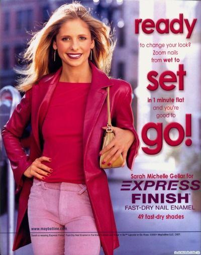 043e8da003b Sarah Michelle Gellar for Maybelline (1999)   Old School Beauty ...