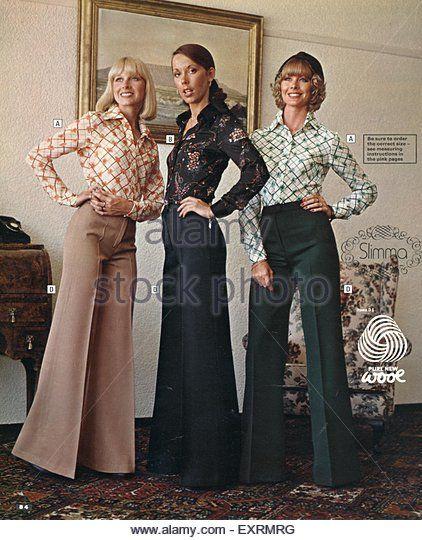 9fd052795d 1970s UK Womens Fashion Catalogue/ Brochure Plate - Stock Image ...