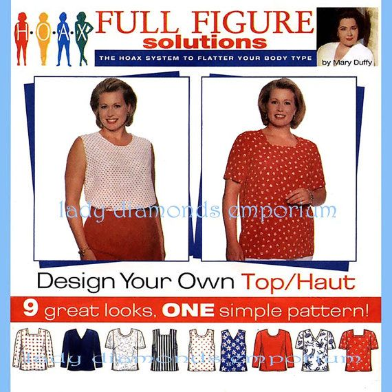 943 Simplicity 7034 Plus Size Tops Shirt Blouse by ladydiamond46 ...