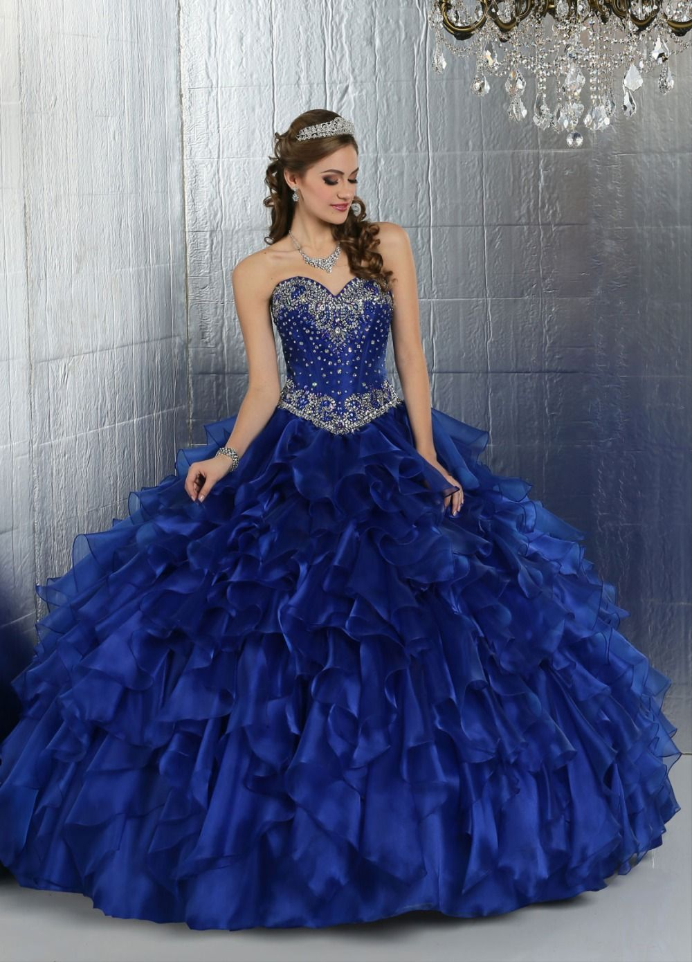 355cb4543c8 Royal Blue Sweetheart Elegant Fashionable Quinceanera Dresses in for 2015  Summer. Vestidos Azules De Quinceañera