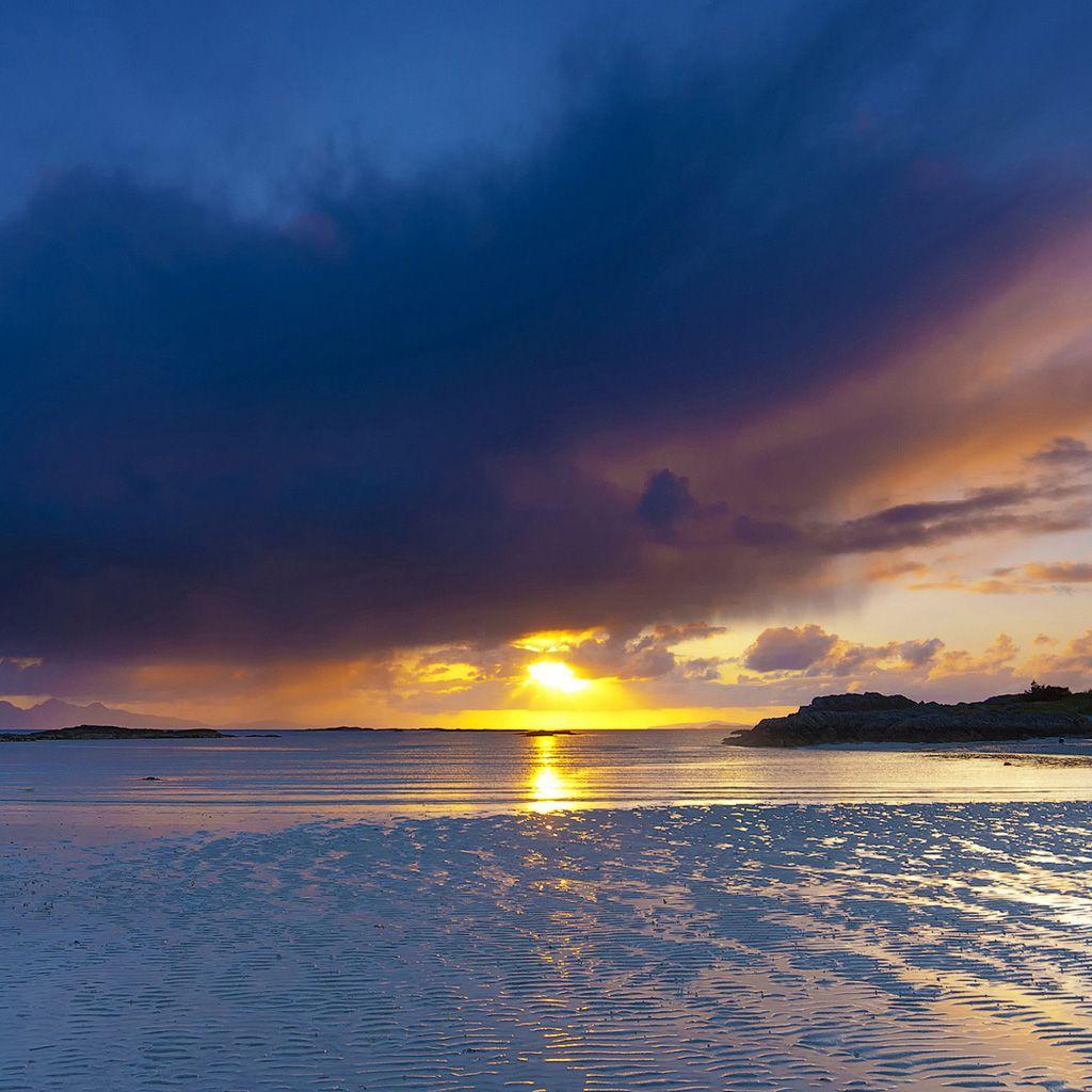 Beach Sunset Landscapes Sunset Beach landscape iPad