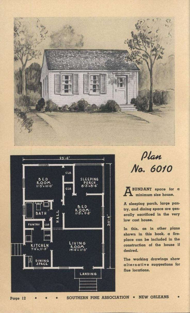 Vintage house plan with a sleeping porch Sleeping Porches