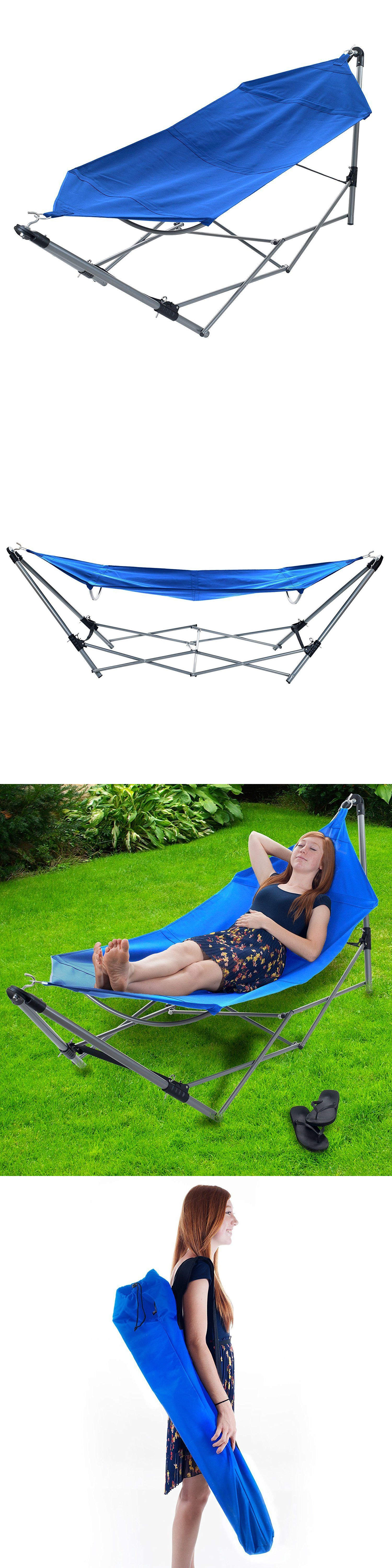 Hammocks stalwart portable hammock with frame stand and