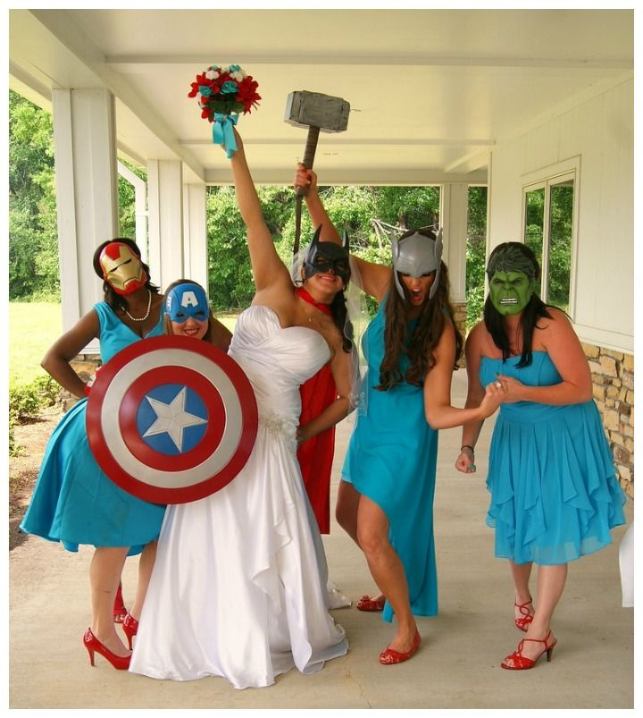 BAM POW Amazing Comic Book Wedding Ideas  Hochzeit Foto