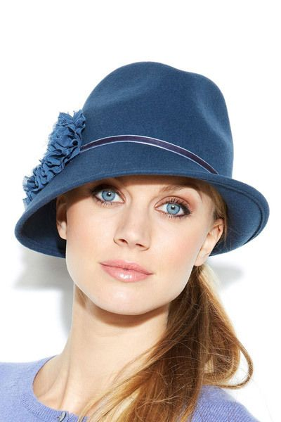 bf790b1552d The Best Winter Hats for Your Face Shape Round Face with High Crown Fedora  Hat