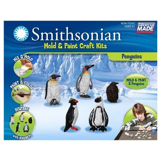 The Smithsonian Mold & Paint Craft Kits by Skullduggery combine creativity, discovery, and learning in one exciting artistic journey. Each kit includes everything needed to create an educational masterpiece: -Perfect Cast Mix, -Reusable Molding Trays, -Paints & Paint Brush, -Magnets and Glue, -Illustrated Educational Booklet, and -Complete Instructions. First, mix the PerfectCast mold mix in the 'mix and pour bag' and pour it into the molds. While it sets read all about butterflies in the…
