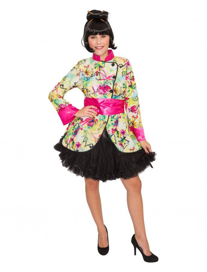 Jacke lotusblume damen 2 tlg für karneval fasching » deiters