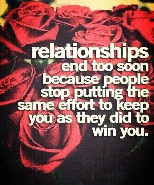 People Stop Putting Same Effort  Best Relationship Quote