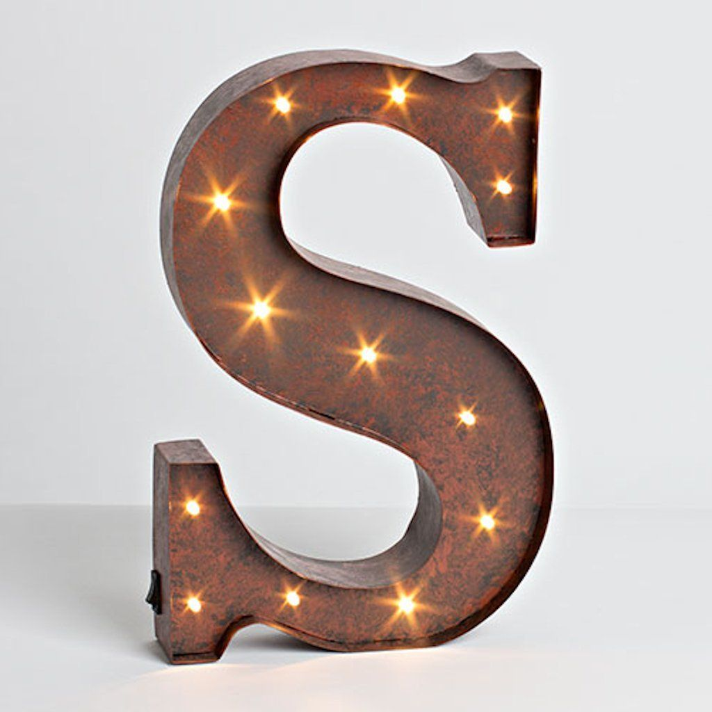 "Brown Metal Letters Amazon The Gerson Company ""s"" Led Lighted Metal Letter With"