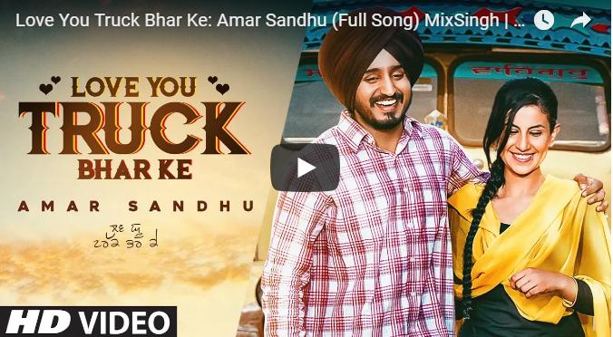 Love You Truck Bhar Ke Lyrics Amar Sandhu Mix Singh Lyrics Wrap