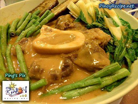 Beef Kare Kare Recipe Kare Kare Recipe Yummy Vegetable Recipes Recipes