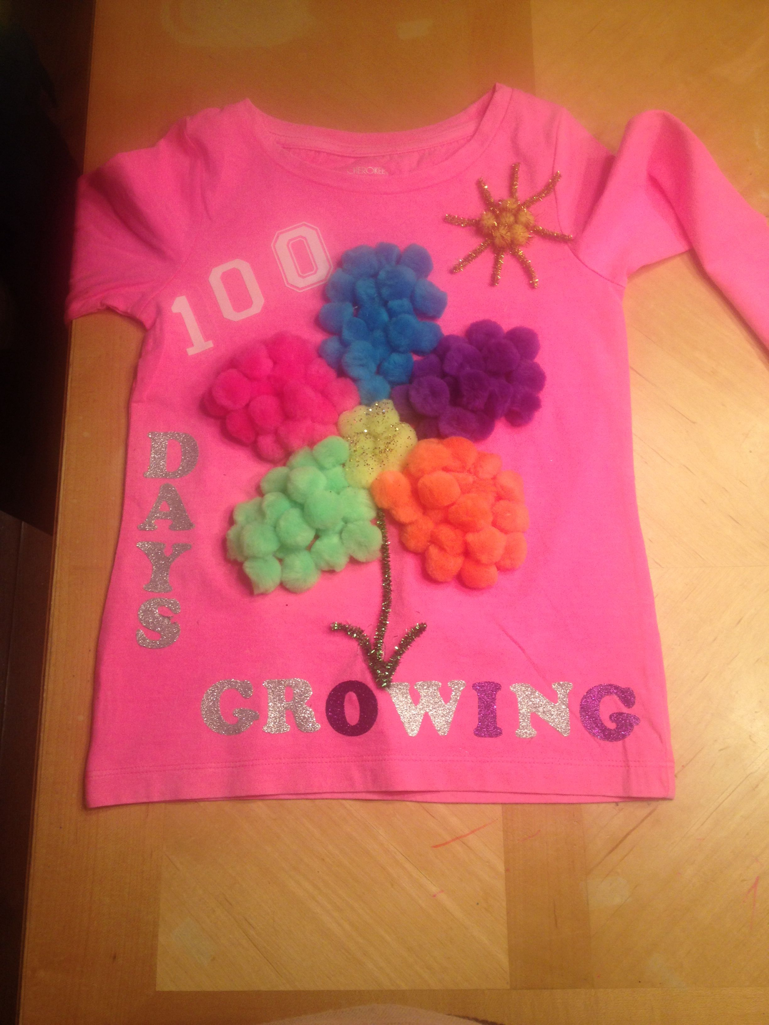 100 Days Of School Shirt What A Fun Project 100th Day Of