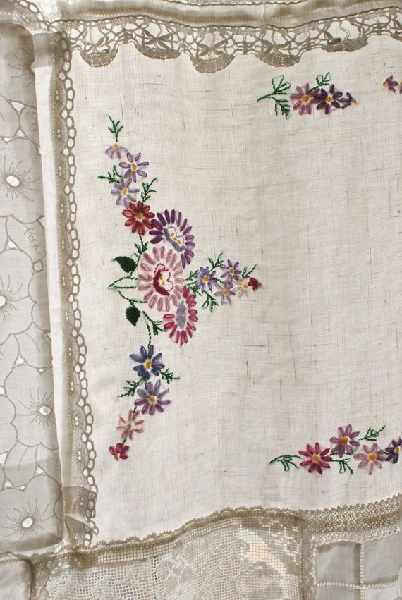 Vintage Lace Patchwork Gypsy Curtain | Vintage lace, Antique shops