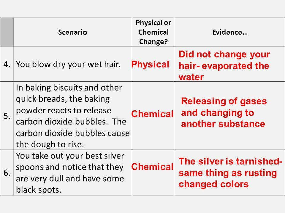Worksheet On Chemical Vs Physical Properties And Changes In 2020